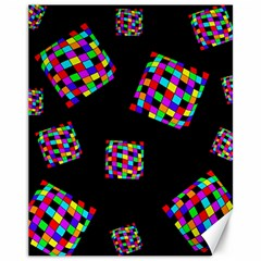 Flying  colorful cubes Canvas 11  x 14