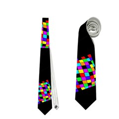 Flying  colorful cubes Neckties (Two Side)