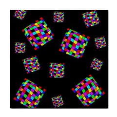 Flying  colorful cubes Face Towel