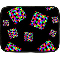 Flying  colorful cubes Double Sided Fleece Blanket (Mini)