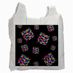 Flying  colorful cubes Recycle Bag (One Side)