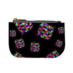 Flying  colorful cubes Mini Coin Purses