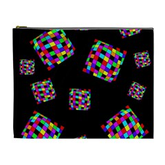 Flying  colorful cubes Cosmetic Bag (XL)