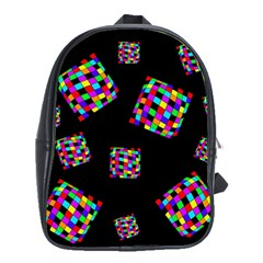 Flying  colorful cubes School Bags(Large)