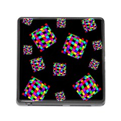 Flying  colorful cubes Memory Card Reader (Square)