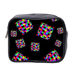 Flying  colorful cubes Mini Toiletries Bag 2-Side