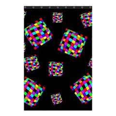 Flying  Colorful Cubes Shower Curtain 48  X 72  (small)