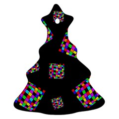 Flying  Colorful Cubes Ornament (christmas Tree)