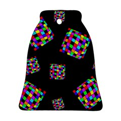 Flying  colorful cubes Bell Ornament (2 Sides)