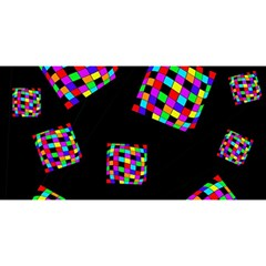 Flying  colorful cubes YOU ARE INVITED 3D Greeting Card (8x4)