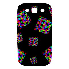 Flying  colorful cubes Samsung Galaxy S III Hardshell Case