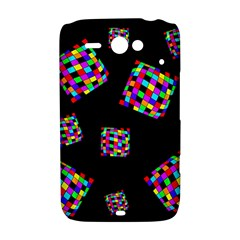 Flying  colorful cubes HTC ChaCha / HTC Status Hardshell Case