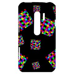 Flying  colorful cubes HTC Evo 3D Hardshell Case