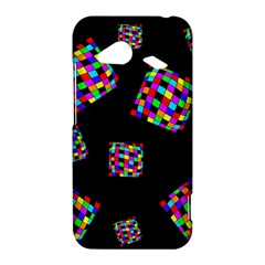 Flying  colorful cubes HTC Droid Incredible 4G LTE Hardshell Case