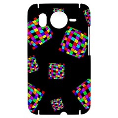 Flying  colorful cubes HTC Desire HD Hardshell Case