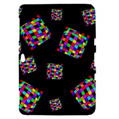 Flying  colorful cubes Samsung Galaxy Tab 8.9  P7300 Hardshell Case
