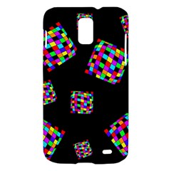 Flying  colorful cubes Samsung Galaxy S II Skyrocket Hardshell Case