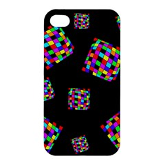 Flying  colorful cubes Apple iPhone 4/4S Premium Hardshell Case