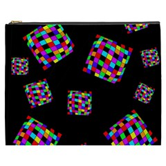 Flying  colorful cubes Cosmetic Bag (XXXL)