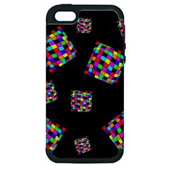Flying  colorful cubes Apple iPhone 5 Hardshell Case (PC+Silicone)