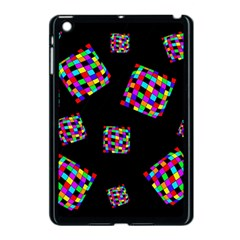 Flying  colorful cubes Apple iPad Mini Case (Black)