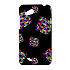 Flying  colorful cubes HTC Desire VC (T328D) Hardshell Case