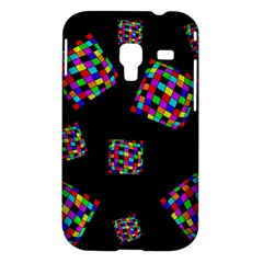 Flying  colorful cubes Samsung Galaxy Ace Plus S7500 Hardshell Case