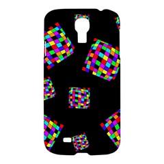 Flying  colorful cubes Samsung Galaxy S4 I9500/I9505 Hardshell Case