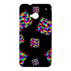 Flying  colorful cubes HTC One M7 Hardshell Case