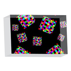 Flying  colorful cubes 4 x 6  Acrylic Photo Blocks