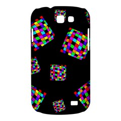 Flying  colorful cubes Samsung Galaxy Express I8730 Hardshell Case