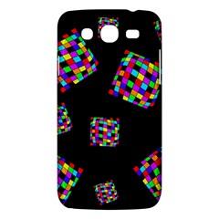 Flying  colorful cubes Samsung Galaxy Mega 5.8 I9152 Hardshell Case