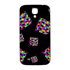 Flying  colorful cubes Samsung Galaxy S4 I9500/I9505  Hardshell Back Case