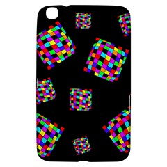 Flying  colorful cubes Samsung Galaxy Tab 3 (8 ) T3100 Hardshell Case