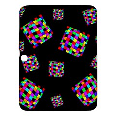 Flying  colorful cubes Samsung Galaxy Tab 3 (10.1 ) P5200 Hardshell Case