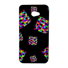 Flying  colorful cubes HTC Butterfly S/HTC 9060 Hardshell Case