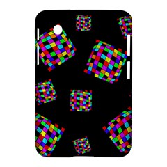 Flying  colorful cubes Samsung Galaxy Tab 2 (7 ) P3100 Hardshell Case