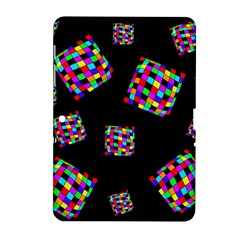 Flying  colorful cubes Samsung Galaxy Tab 2 (10.1 ) P5100 Hardshell Case