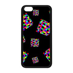 Flying  colorful cubes Apple iPhone 5C Seamless Case (Black)