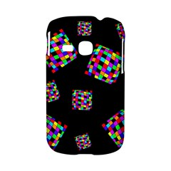 Flying  colorful cubes Samsung Galaxy S6310 Hardshell Case