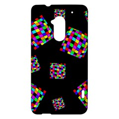 Flying  colorful cubes HTC One Max (T6) Hardshell Case