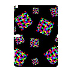 Flying  colorful cubes Samsung Galaxy Note 10.1 (P600) Hardshell Case