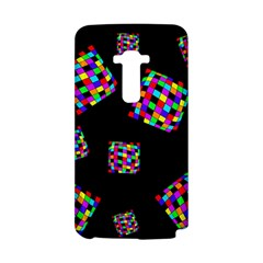 Flying  colorful cubes LG G Flex