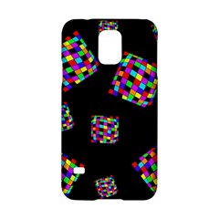 Flying  colorful cubes Samsung Galaxy S5 Hardshell Case