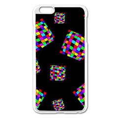 Flying  colorful cubes Apple iPhone 6 Plus/6S Plus Enamel White Case