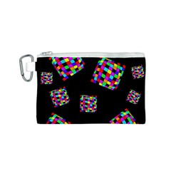 Flying  colorful cubes Canvas Cosmetic Bag (S)