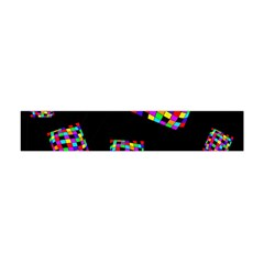 Flying  Colorful Cubes Flano Scarf (mini)