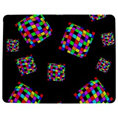 Flying  colorful cubes Jigsaw Puzzle Photo Stand (Rectangular)