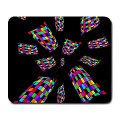 Colorful abstraction Large Mousepads