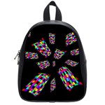 Colorful abstraction School Bags (Small)  Front